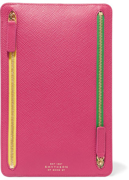 Smythson - Panama Textured-leather Wallet - Fuchsia