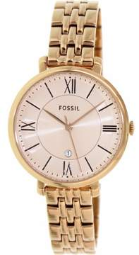 Fossil Women's ES3434P Jacqueline Stainless Steel Watch, 36mm
