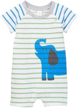 Nordstrom Striped Coverall (Baby Boys)