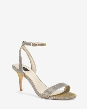 White House Black Market Silver Strappy Heels