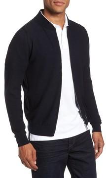 John Smedley Men's Standard Fit Merino Wool Knit Jacket