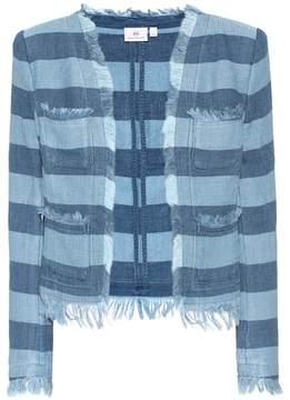 AG Jeans The Capucine striped cotton jacket
