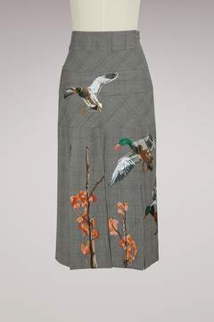 Stella Jean Printed ducks skirt