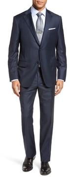 Hickey Freeman Men's Modern H Fit Solid Loro Piana Wool Suit