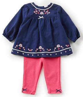 Little Me Baby Girls 3-12 Months Daisy Tunic Top & Solid Leggings Set
