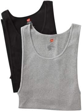 Hanes Big & Tall Classics 2-pack Fresh IQ A-Shirts
