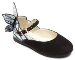 Sophia Webster Baby's, Toddler's & Kid's Mini Chiara Butterfly Suede Mary Jane Flats