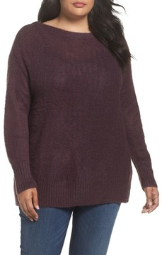 Caslon Plus Size Women's Long Sleeve Brushed Sweater