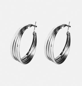 Avenue Layered Glitter Hoop Earrings