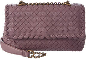 Bottega Veneta Baby Olimpia Intrecciato Leather Crossbody