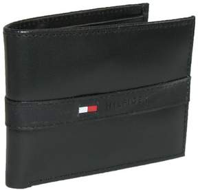 Tommy Hilfiger Men's Leather Ranger Passcase Billfold Wallet, Black