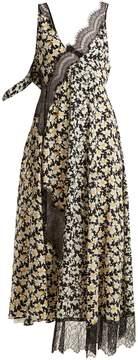 Joseph Bronte floral-print contrast-panel dress