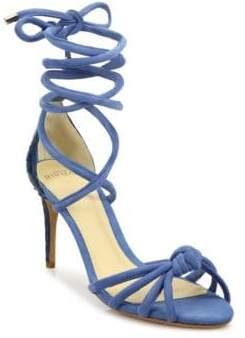 Alexandre Birman Lana Knot Ankle-Wrap Sandals