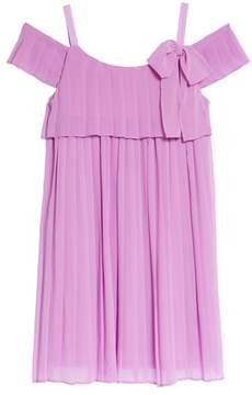 Iris & Ivy Chiffon Cold Shoulder Dress