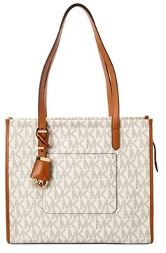 MICHAEL Michael Kors Darien Signature Medium Tote. - WHITE - STYLE