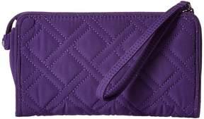 Vera Bradley Front Zip Wristlet Wristlet Handbags - ELDERBERRY - STYLE