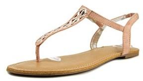 Material Girl Skyler Open Toe Leather Thong Sandal.