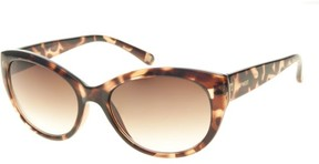 Nine West Womens Cat Eye Tortoise Sunglasses One Size Brown