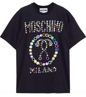 Moschino Embellished Cotton-Jersey T-Shirt