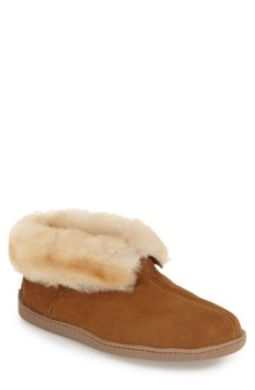Minnetonka Men's Genuine Shearling Lined Ankle Boot