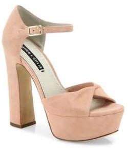 Alice + Olivia Layla Suede Platform Sandals