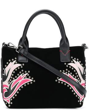 Pinko embroided studded shulder bag