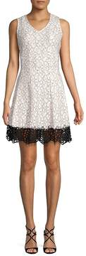 Donna Ricco Women's Floral Fit-&-Flare Dress