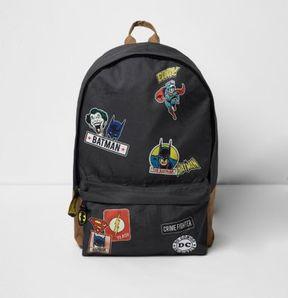 River Island Boys grey 'Batman' comic print backpack