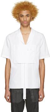 Hood by Air White Poplin Moma Zip Shirt