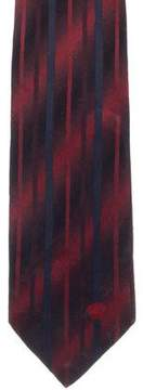 Gianni Versace Silk Abstract Print Tie