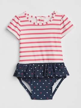 Gap Stars & Stripes Peplum Swim One-Piece