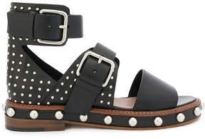 RED Valentino buckle-strap stud sandals