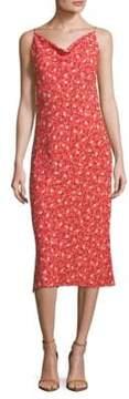 ABS by Allen Schwartz Midi Floral Slip Dress