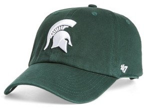 '47 Women's Michigan State Clean Up Baseball Cap - Green
