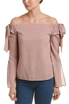 Cotton Candy Off-the-shoulder Blouse.