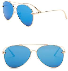 Cat Eye AQS Women's Tommie 60mm Aviator Sunglasses