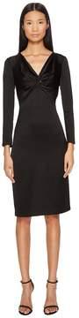 Francesco Scognamiglio Long Sleeve V-Neck Twist Front Dress Women's Dress