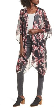 Sole Society Women's Floral Print Kimono