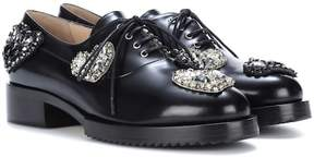 N°21 Lena embellished leather Oxford shoes