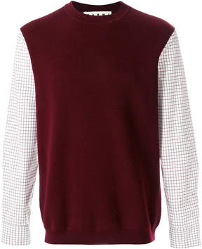 Marni jumper with contrast sleeves