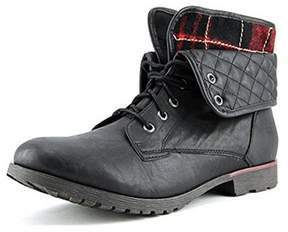 Rock & Candy Spraypaint Women Round Toe Synthetic Black Ankle Boot.
