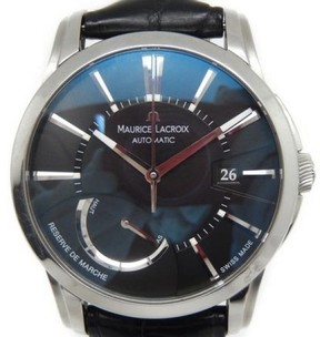 Maurice Lacroix PT6168-SS001-331 Stainless Steel / Leather 40mm Mens Watch