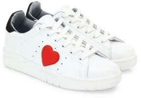 Chiara Ferragni Leather Heart Sneakers