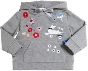 Simonetta Embroidered Cotton Sweatshirt