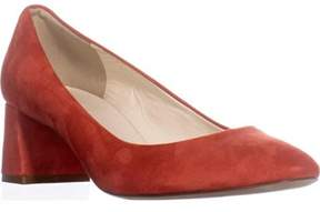 Bettye Muller Barrow Block-heel Pumps, Red Suede.