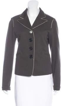 Bottega Veneta Knit Button-Up Blazer