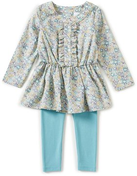 Edgehill Collection Baby Girls 12-24 Months Made With Liberty Fabrics Top & Leggings Set