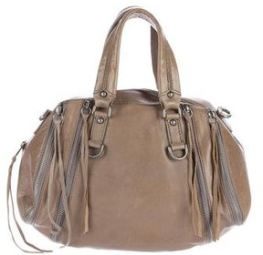 Botkier Zip-Accented Leather Satchel