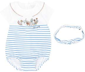Little Marc Jacobs striped romper and head band