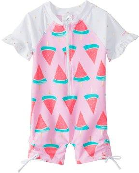 Snapper Rock Girls' Watermelon S/S One Piece Sunsuit (0mos2T) - 8155094